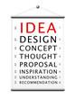 IDEA Eye Test Chart (innovation creativity business ideas)