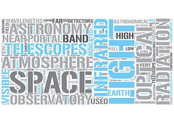 Infrared astronomy Word Cloud Concept