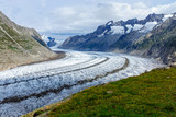 View of the Altesch glacier in the swiss alps