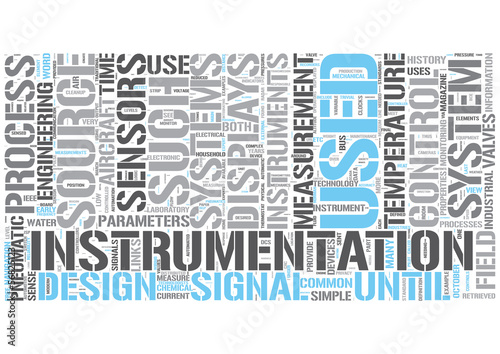 Instrumentation engineering Word Cloud Concept