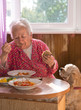 Eating old woman