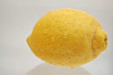 Zitrone mit Wassertropfen Freisteller