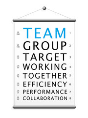 TEAM Eye Chart (teamwork performance together efficiency)