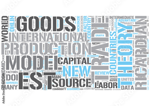 International Trade Word Cloud Concept