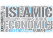 Islamic economics Word Cloud Concept