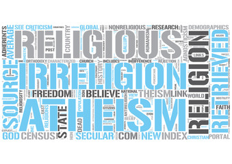 Irreligion Word Cloud Concept