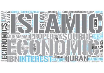 Islamic economics Word Cloud Concept