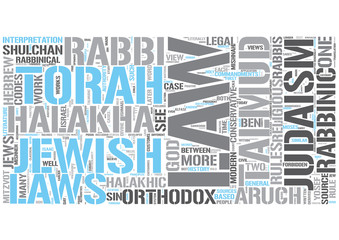 Jewish law Word Cloud Concept