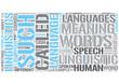 Languages Word Cloud Concept