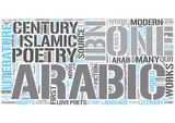 Arabic literature Word Cloud Concept