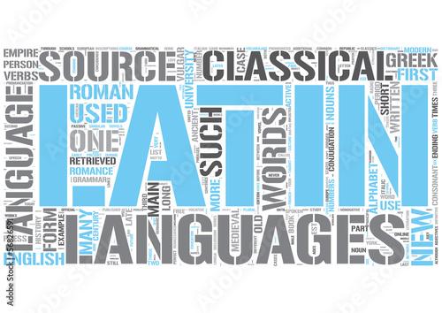 Latin Word Cloud Concept