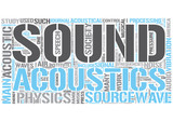 Acoustics Word Cloud Concept