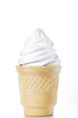 white ice-cream cone