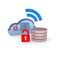 cloud, datenbank, server,