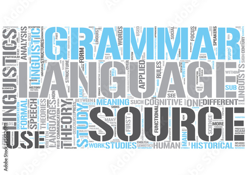 Linguistics Word Cloud Concept