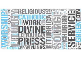 Liturgy Word Cloud Concept