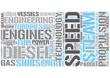 Marine propulsion Word Cloud Concept
