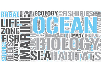Marine biology Word Cloud Concept