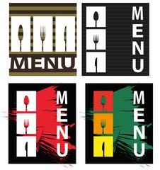serie di illustrazioni per la ristorazione