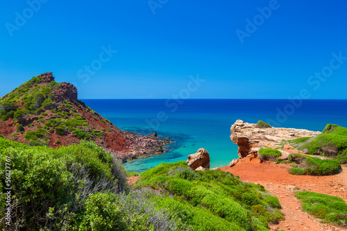 Mediterranean sea view from Menorca coast
