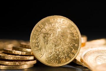 Twenty Deutsch Mark coins