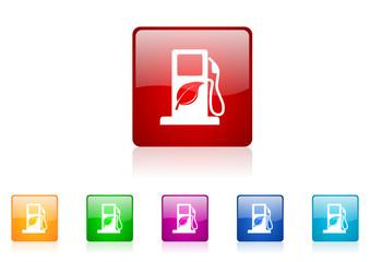 biofuel icon set