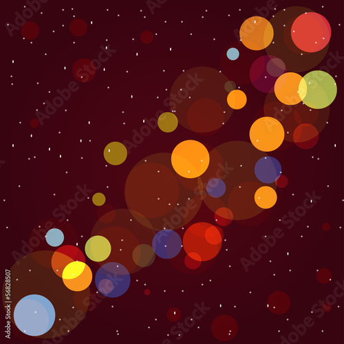 christmas bokeh vintage background