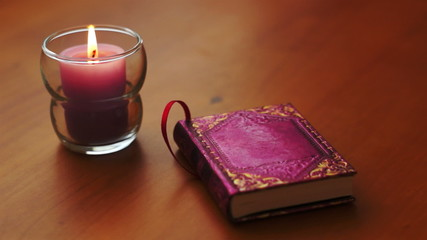 Romantic Book and Candle Dolly