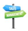 sales marketing road sign illustration design