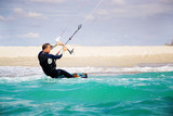 Kitesurfer in Black Sea, Crimea