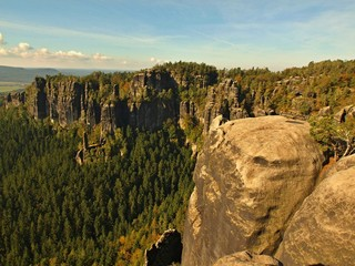Summer evening before storm in Saxon Switzerland