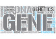 Molecular genetics Word Cloud Concept