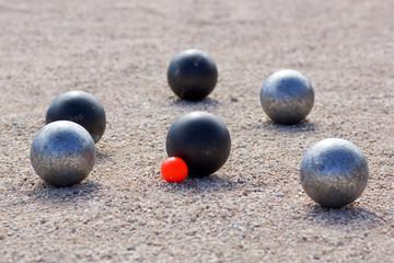 pétanque point boule noire