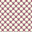Seamless inlay of wavy lines. Vector mesh pattern