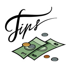 Tips money cash coin hotel resort service