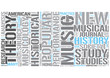 Musicology Word Cloud Concept