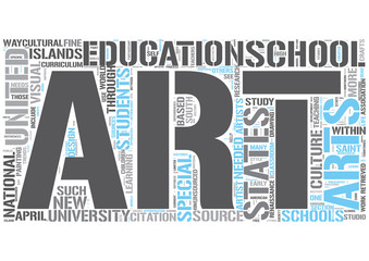 Art education Word Cloud Concept