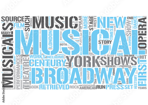 Musical theatre Word Cloud Concept