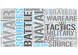 Naval tactics Word Cloud Concept