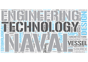 Naval engineering Word Cloud Concept