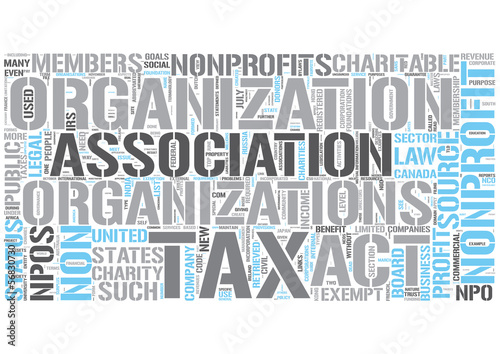Nonprofit Word Cloud Concept