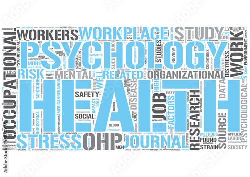 Occupational health psychology Word Cloud Concept