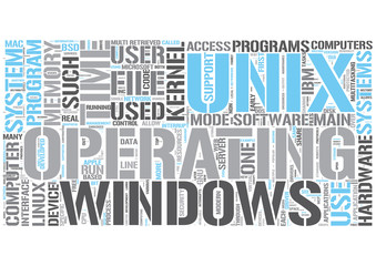 Operating systems Word Cloud Concept