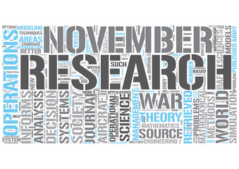 Operations research Word Cloud Concept