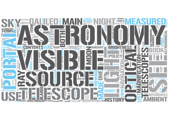 Optical astronomy Word Cloud Concept