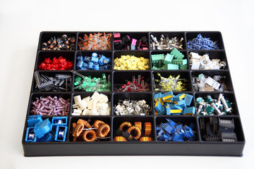 box of electronic components