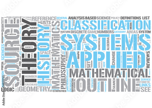 Outline of mathematics Word Cloud Concept
