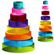 3d Tiered Cylinders