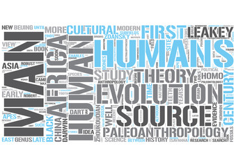 Paleoanthropology Word Cloud Concept