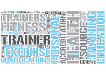 Personal trainer Word Cloud Concept